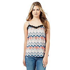 H! by Henry Holland - Multicoloured embellished Aztec camisole