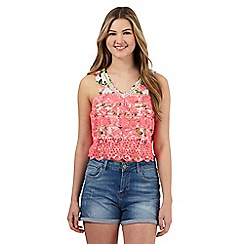 H! by Henry Holland - Multi-coloured lace floral print top