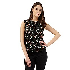 H! by Henry Holland - Black floral print top