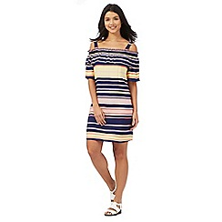 H! by Henry Holland - Navy striped Bardot swing dress
