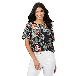 H! by Henry Holland - Navy floral print top