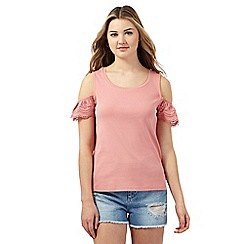 H! by Henry Holland - Rose lace cold shoulder top