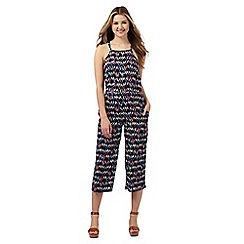 H! by Henry Holland - Navy parrot print jumpsuit