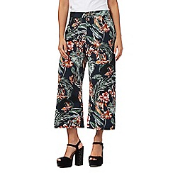 H! by Henry Holland - Navy floral print culottes