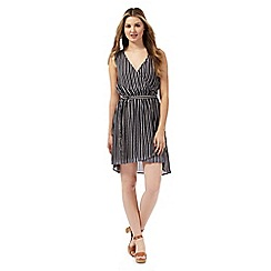 H! by Henry Holland - Navy striped print dress