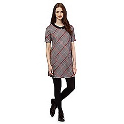 H! by Henry Holland - Brown checked shift dress
