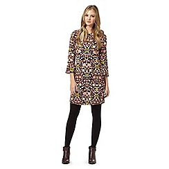 H! by Henry Holland - Purple floral flared sleeve dress