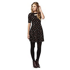H! by Henry Holland - Black fox print jersey dress