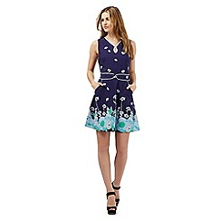 H! by Henry Holland - Navy floral print dress