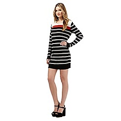 H! by Henry Holland - Black striped jumper dress