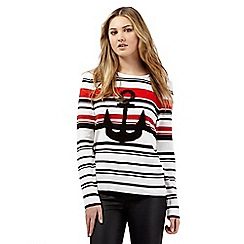 H! by Henry Holland - Ivory anchor striped jumper