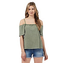 H! by Henry Holland - Khaki Bardot top