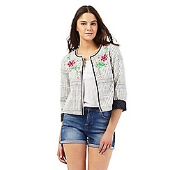 H! by Henry Holland - Ivory floral embellished jacket