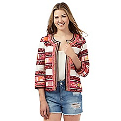 H! by Henry Holland - Multi-coloured Aztec embroidered jacket