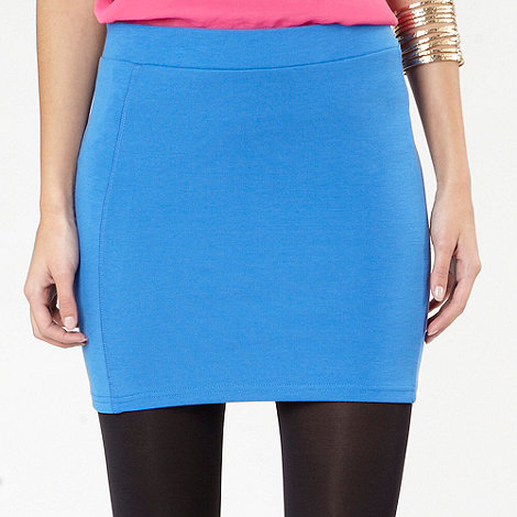 H! by Henry Holland - Bright blue mini tube skirt