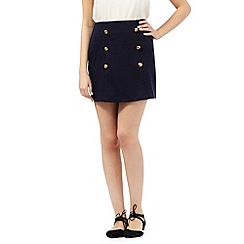 H! by Henry Holland - Navy ponte A line skirt