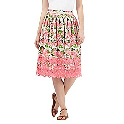H! by Henry Holland - Pink floral Broderie Anglaise skirt