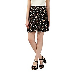 H! by Henry Holland - Black floral print mini skirt