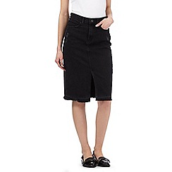 H! by Henry Holland - Black denim pencil skirt