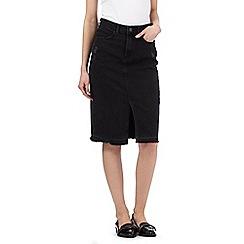 H! by Henry Holland - Black denim pencil skirt