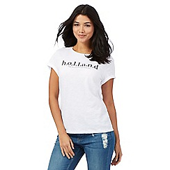 H! by Henry Holland - White 'Holland' print t-shirt