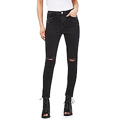 H! by Henry Holland - Black ripped super skinny jeans