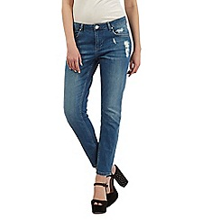 H! by Henry Holland - Mid wash distressed boyfriend jeans