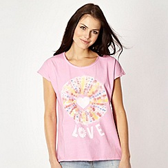 H! by Henry Holland - Designer pink 'Love' t-shirt