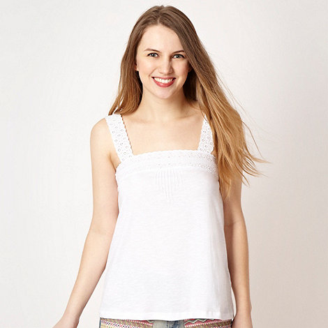 H! by Henry Holland - Designer white lace camisole