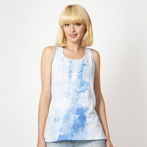 H! by Henry Holland - Designer blue dip dye vest