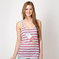 H! by Henry Holland - Designer pink ice lolly motif vest top