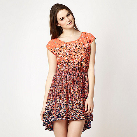 H! by Henry Holland - Designer peach petal printed day dress