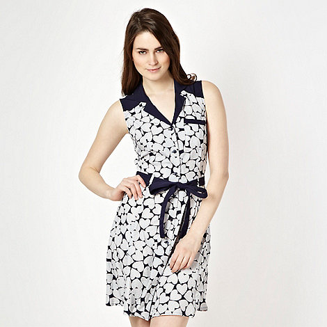 H! by Henry Holland - Designer blue heart spot dress