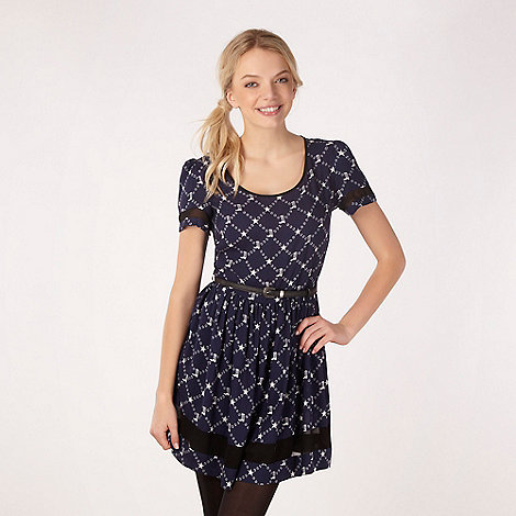 H! by Henry Holland - Designer navy cowboy print dress