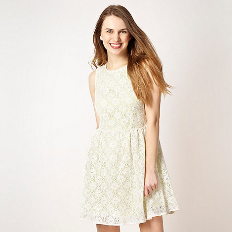 H! by Henry Holland - Designer white neon lace dress