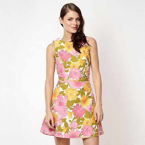 H! by Henry Holland - Designer white +candy pop+ floral dress