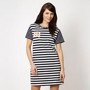 Designer navy stripe t-shirt dress