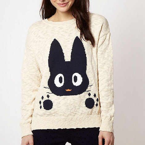 H! by Henry Holland - Designer cream rabbit jumper