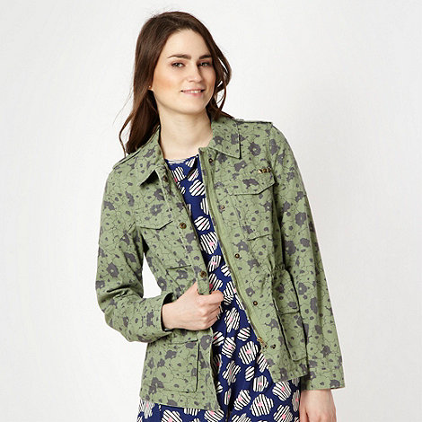 H! by Henry Holland - Green long sleeved floral shirt