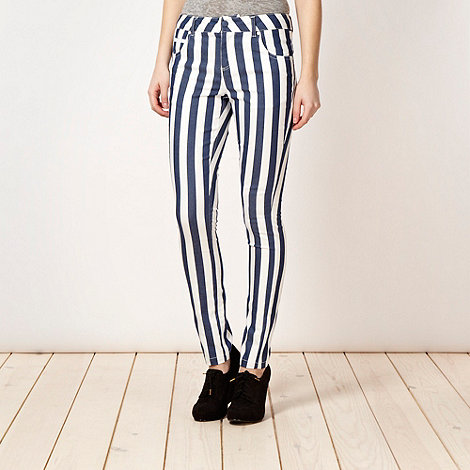 H! by Henry Holland - Designer dark blue striped trousers