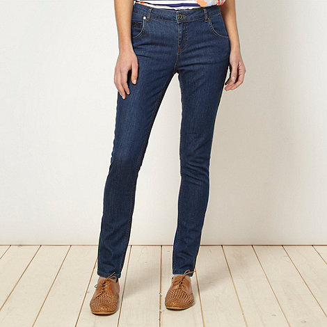 H! by Henry Holland - Designer blue triangle embroidered jeans