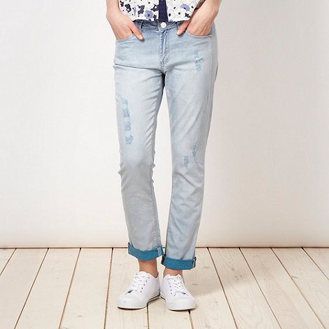 H! by Henry Holland - Designer light blue rip and repair jeans