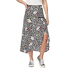 H! by Henry Holland - Multi-coloured ditsy print midi skirt