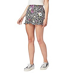 H! by Henry Holland - Multi-coloured ditsy print shorts