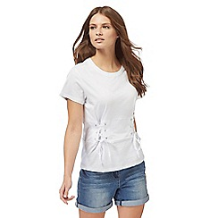 H! by Henry Holland - White corset t-shirt