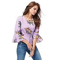 H! by Henry Holland - Multi-coloured floral print smock top