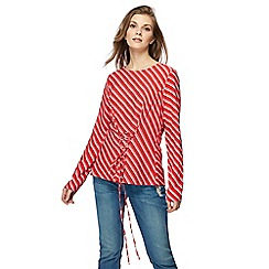 H! by Henry Holland - Red striped corset top