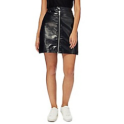 H! by Henry Holland - Black patent mini skirt