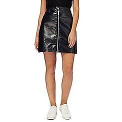 H! by Henry Holland - Black patent mini skirt