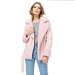 H! by Henry Holland - Pink faux fur shearling jacket